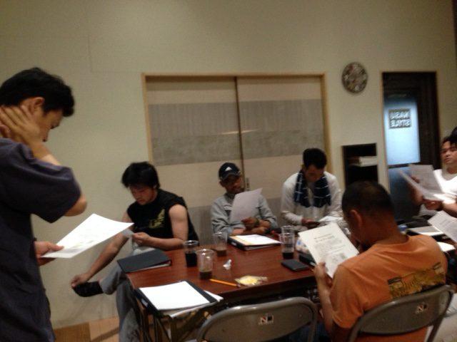 勉強する職人集団、カッコいいです。