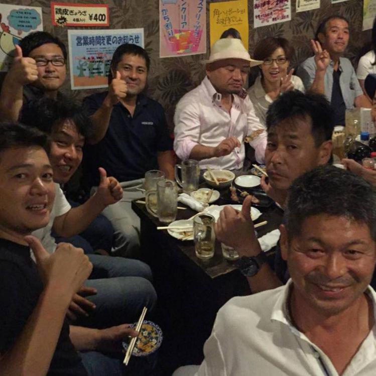 懇親会参加者は26名。とりのすけ伊川谷本店 満席です。