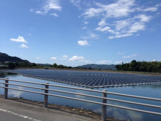 水上太陽光発電所の電磁波測定