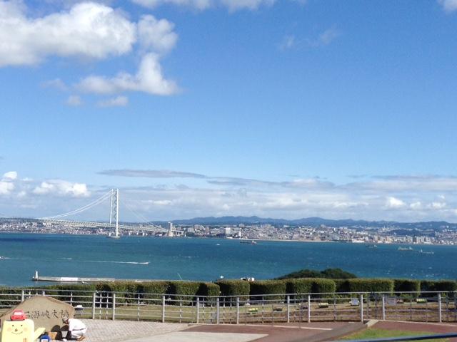 淡路島から見る神戸