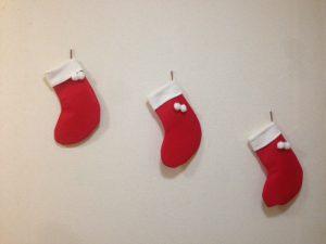 クリスマスの風物詩 靴下