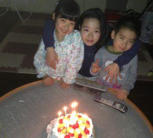 次女7歳の誕生日。(20170224)