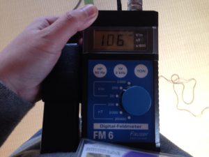 体への帯電量を測定