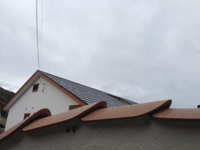 完成した電磁波対策オールアースと自然素材の家