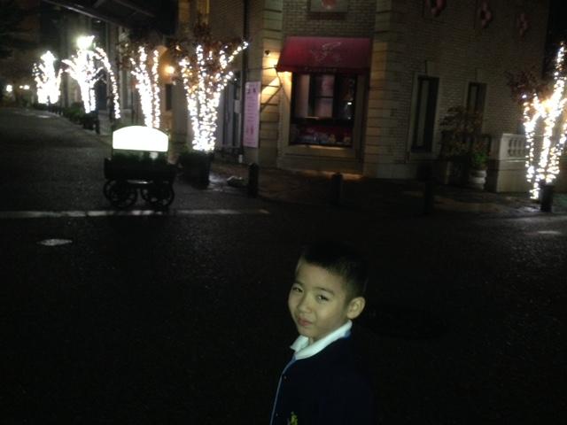 息子と夜の街へ