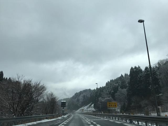 4月に突然の雪@20190402北陸道