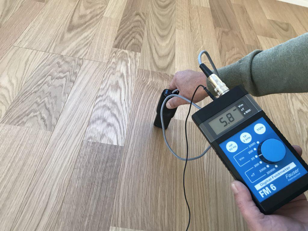 床からの電磁波 5.8v/m
